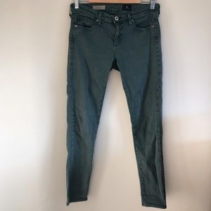 AG Olive The Stevie Slim Straight Ankle Jean